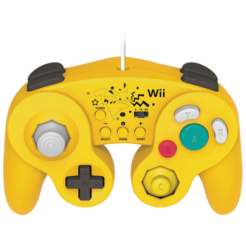 HORI Pikachu Wired Fight Pad Turbo for Wii U - Yellow