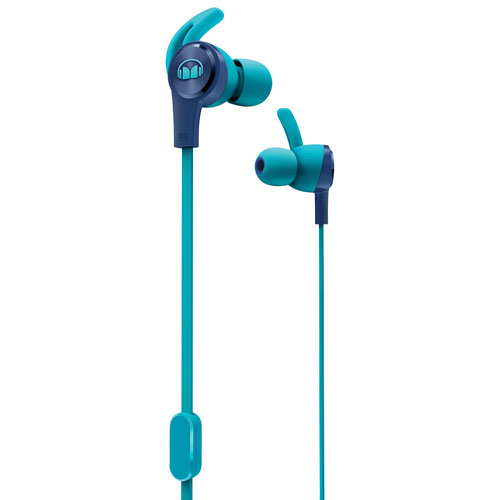 8f7bee604db Monster iSport Achieve In-Ear Sound Isolating Headphones with Mic - Blue |  Best Buy Canada