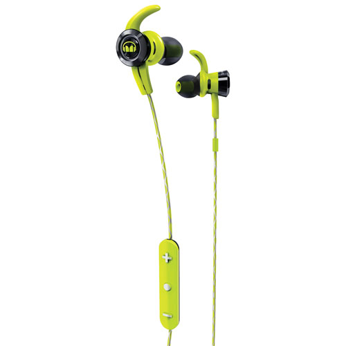 Monster iSport Victory In-Ear Sound Isolating Bluetooth Headphones with Mic - Green