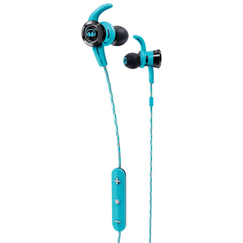 Monster iSport Victory In-Ear Sound Isolating Bluetooth Headphones with Mic - Blue