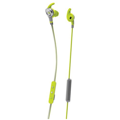 Écouteurs bouton à isolation sonore Bluetooth avec microphone iSport Intensity de Monster - Vert