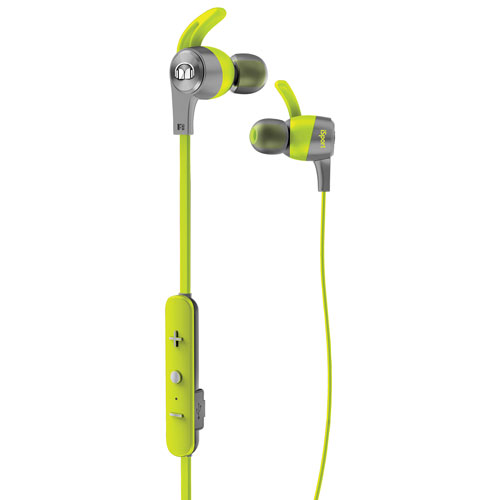 Monster iSport Achieve In-Ear Sound Isolating Bluetooth Headphones with Mic - Green
