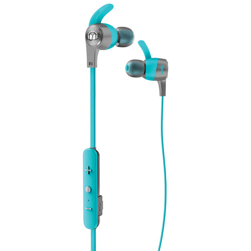 Monster iSport Achieve In-Ear Sound Isolating Bluetooth Headphones with Mic - Blue