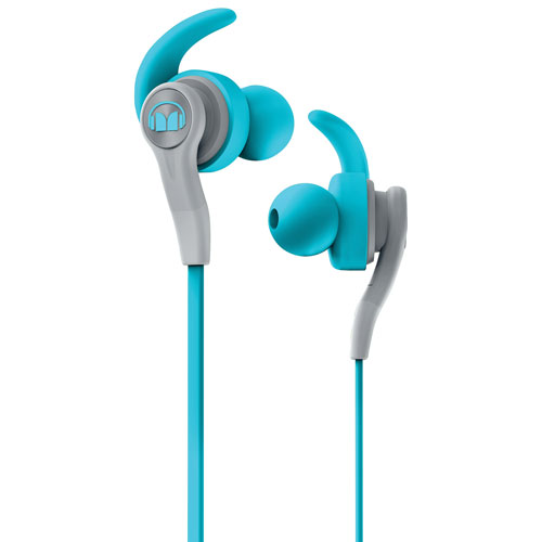 Monster iSport Compete In-Ear Sound Isolating Headphones with Mic - Blue