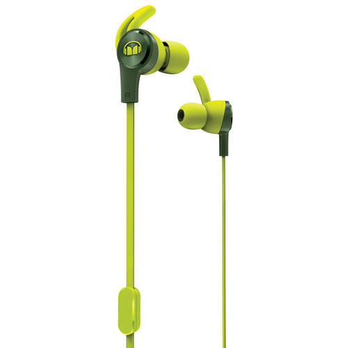 Monster iSport Achieve In-Ear Sound Isolating Headphones with Mic - Green
