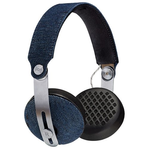 House of Marley Rise On-Ear Sound Isolating Bluetooth Headphones with Mic - Denim