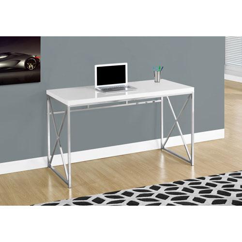 Contemporary Computer Desk Glossy White Desks Workstations - Contemporary computer desk