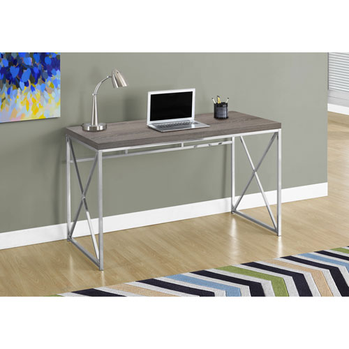 Monarch Contemporary Computer Desk Dark Taupe Desks