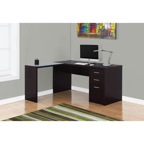 L Shaped Desk Images contemporary l-shaped desk - cappuccino : desks & workstations