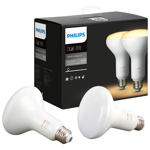 Philips Hue BR30 Smart Personal Wireless Light Bulb - 2 Pack