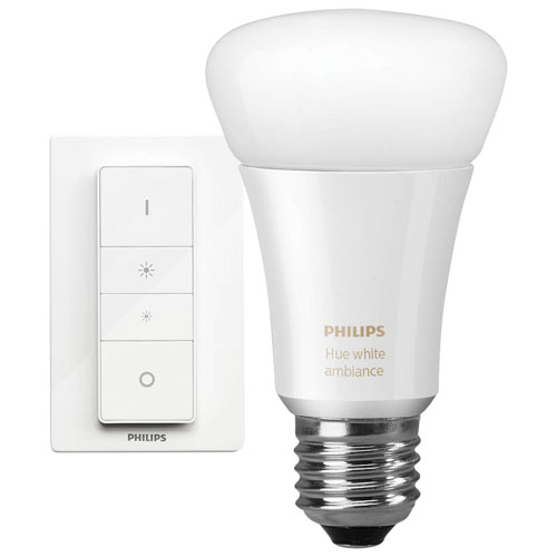 Philips Hue A19 Smart Personal Wireless Light Bulb with Wireless Dimmer Switch - Only at Best Buy