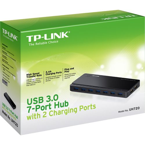 TP-LINK 7-Port USB Hub with 2-port Power Charge Ports