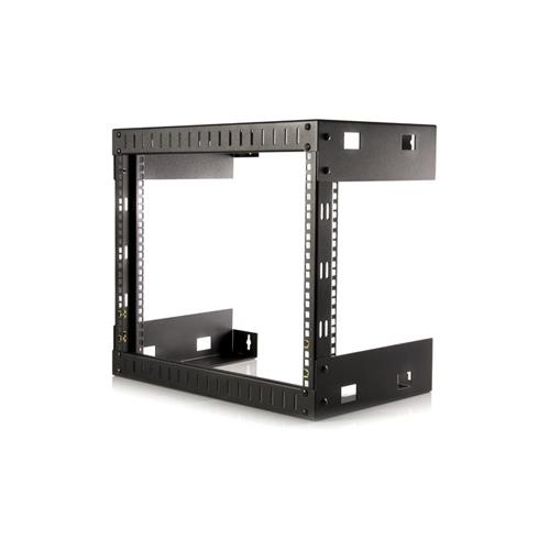 StarTech 8U Open Frame Wall Mount Equipment Rack - 12in Deep