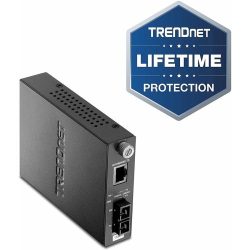TRENDnet TFC-110S15 10/100Base-TX to 100Base-FX Single-Mode Fiber Converter