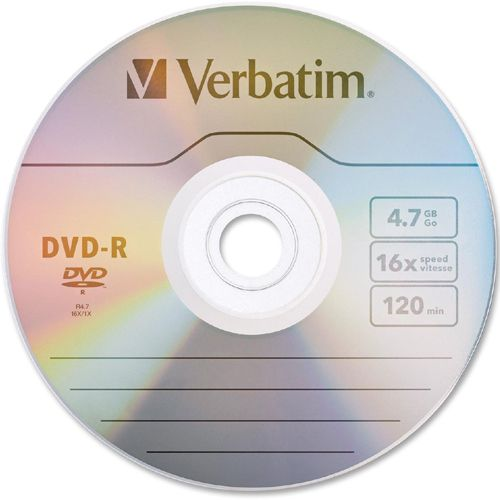 Verbatim AZO DVD-R 4.7GB 16X with Branded Surface - 50pk Spindle