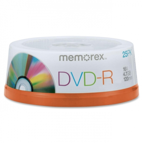 Memorex DVD Recordable Media - DVD-R - 16x - 4.70 GB - 25 Pack Spindle
