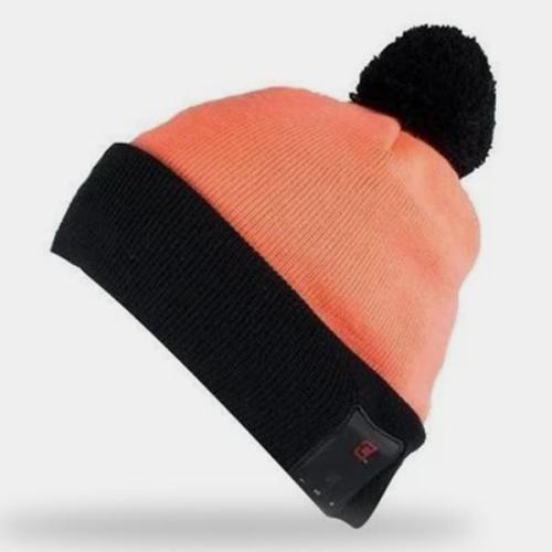 Caseco Pom-pom Bluetooth Beanie - Orange with Black Unisex