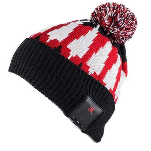 Caseco Pom Bluetooth Toque - Red and Black with White Trees