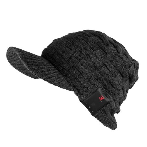 Caseco Dual Layered Visor Bluetooth Toque for Men Hat Style - Dark Gray