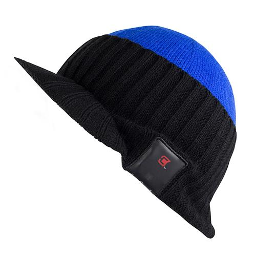 Caseco Visor Bluetooth Toque for Men Hat Style - Black and Blue