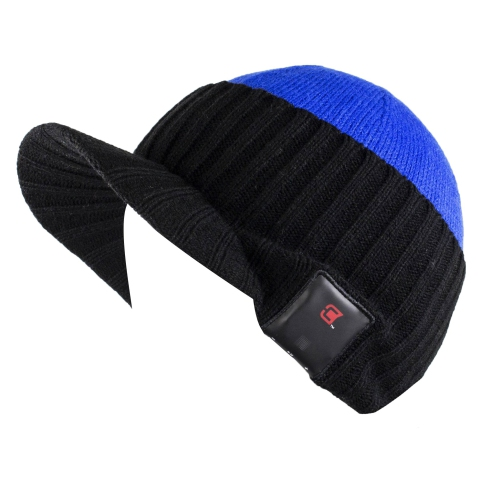 Dual Layered Bluetooth 4.0 Wireless Winter Beanie Unisex Hat with Headphone    Mic - Cobalt - Online Only beae12b5578