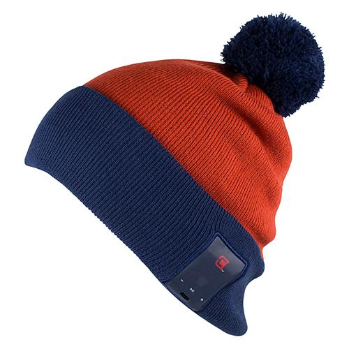Caseco Dual Layered Unisex Pom Bluetooth Toque - Red and Navy