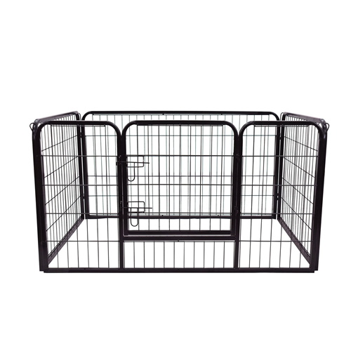 PawHut Metal Dog Cat Exercise Pet Playpen 49.2x31.5x27.6inch Black