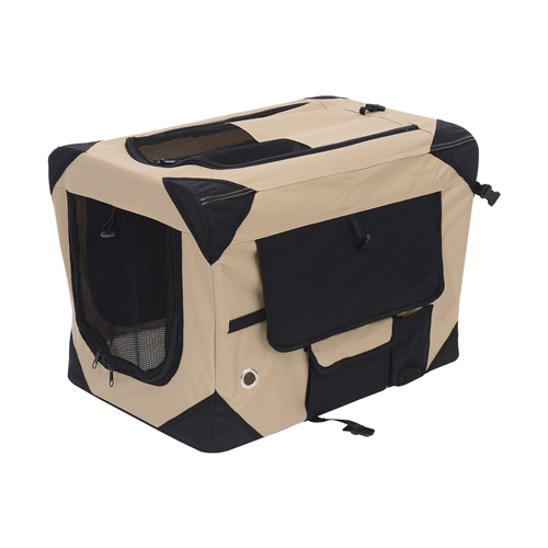 Pawhut 32Inch Folding Soft Pet Crate Dog Cage Carrier Kennel Puppy Cat Portable Fabric Travel Bed House