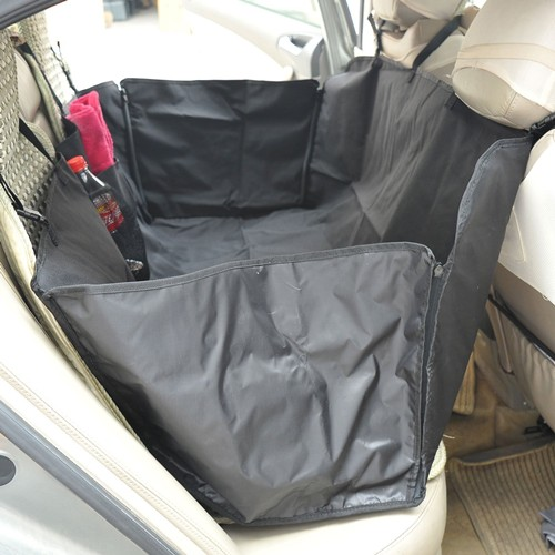 PawHut 46inchL Pet Hammock Dog Car Seat Cover Mat Puppy Cat Travel Seat Liner Barrier Black