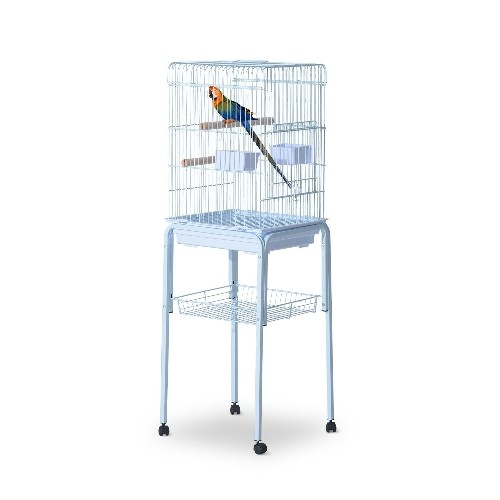 PawHut 51inch Bird Cage Parrot Macaw Finch Cockatoo Pet Feeding Tray Play Top Large White