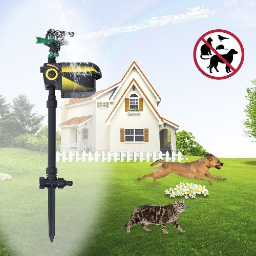 PawHut Motion Activated Animal Repeller Garden Sprinkler Scarecrow Adjustable Water Spray