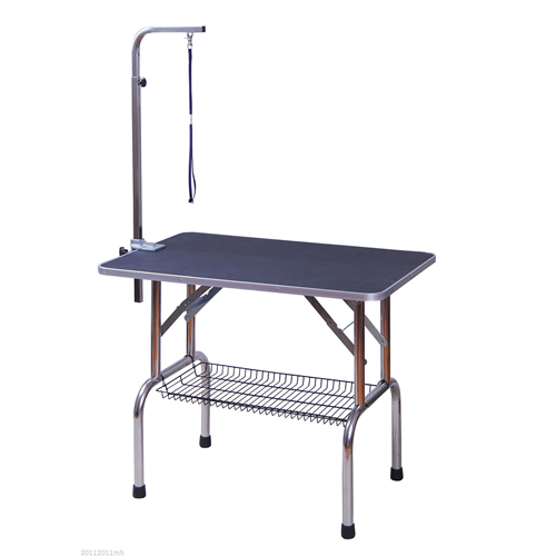 PawHut QUALITY GUARANTEED 36-inch Stainless Steel Dog Grooming Table