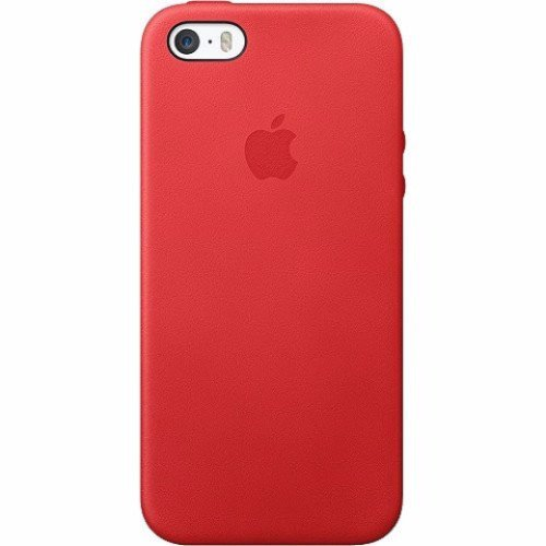 Apple iPhone 5/5s/SE Leather Fitted Hard Shell Case (MF046LL/A) - Red