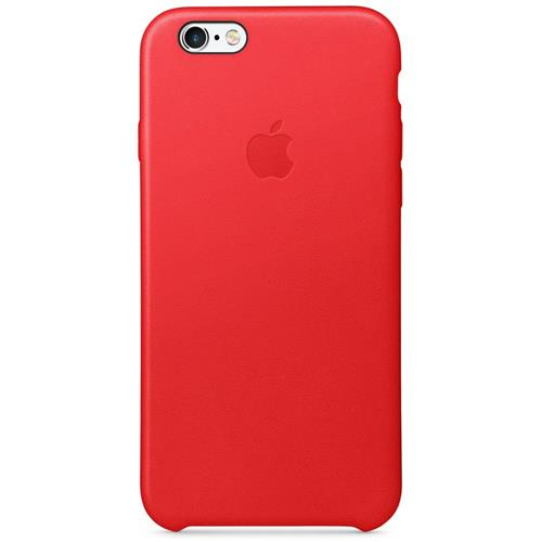 Apple iPhone 6/6s Leather Fitted Hard Shell Case (MKXX2ZM/A) - Red