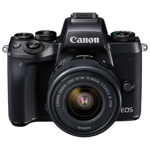 Appareil photo sans miroir eos m5 de canon avec objectif for Appareil photo sans miroir