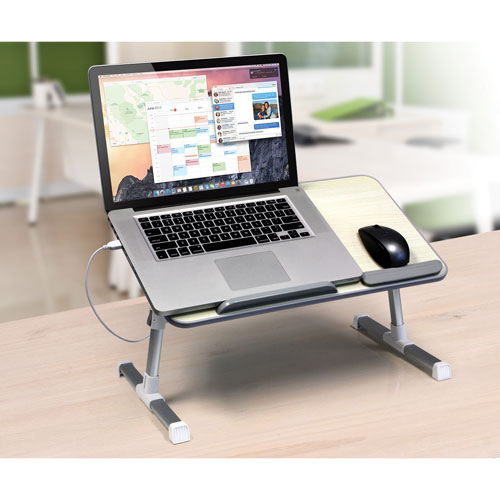 Aluratek Ergonomic Laptop Cooling Table with Fan