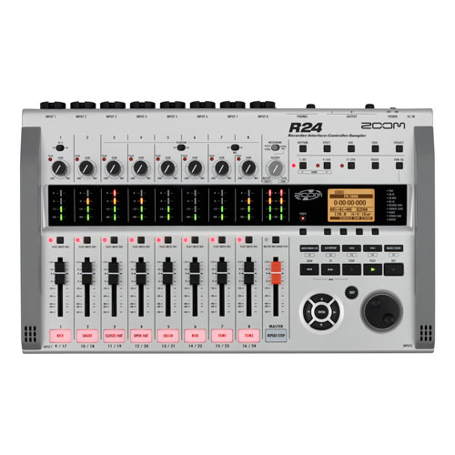 Zoom R24 Portable 24-Track Audio Production Studio with Sampler- English