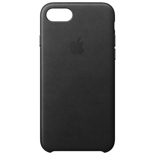 Apple iPhone 7/8 Leather Fitted Hard Shell Case - Black