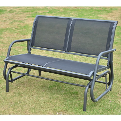 Outsunny Patio Double Glider Bench Swing Chair Rocker Heavy Duty