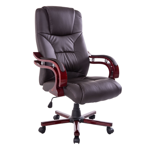 HOMCOM Deluxe Ergonomic Executive Office Chair Brown