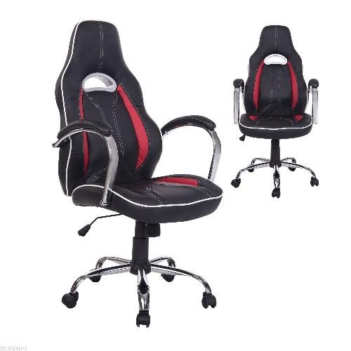 HOMCOM Executive Racing Office Chair PU Leather Red