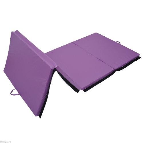 soozier gymnastics mat gym home folding panel exercise aerobics mats stretching yoga purple pilates u0026 yoga mats best buy canada
