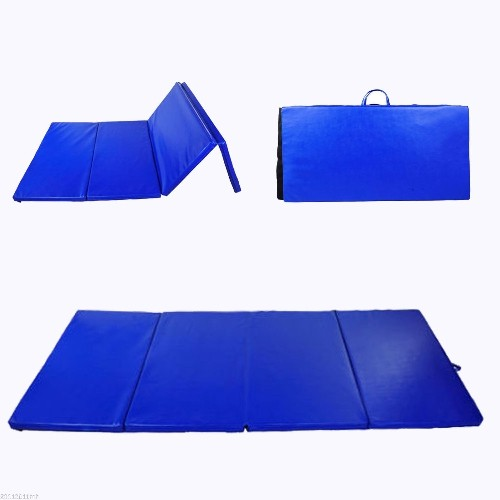 "Soozier 4'×8'×2"" Gym Mat Blue : Pilates & Yoga Mats"