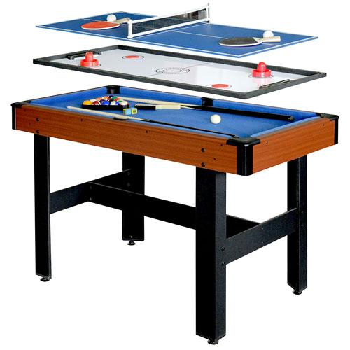 Table Multi Jeux 3 En 1 De 48 Po Triad De Hathaway Bg1131m