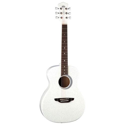 "Luna Guitars Aurora Borealis 22.5"" Acoustic Guitar - White"
