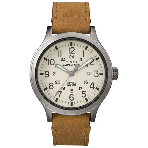 Montre analogique décontractée de 43 mm pour hommes Expedition Scout de Timex - Havane-gris