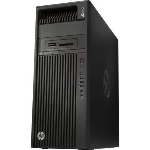 HP Z440 Mini-tower Workstation - 1 x Processors Supported - 1 x Intel Xeon E5-1650 v4 Hexa-core (6 Core) 3.60 GHz - Jack Black