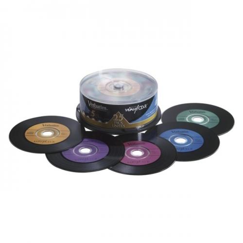 Verbatim CD-R 80min 52X with Digital Vinyl Surface - 25pk Spindle