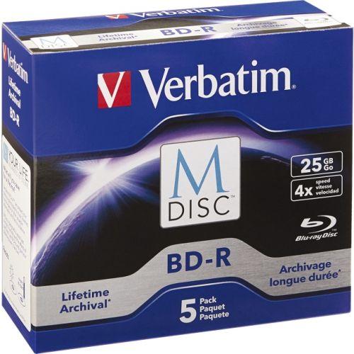 Verbatim Blu-ray Recordable Media - BD-R - 4x - 25GB - 5 Pack Jewel Case