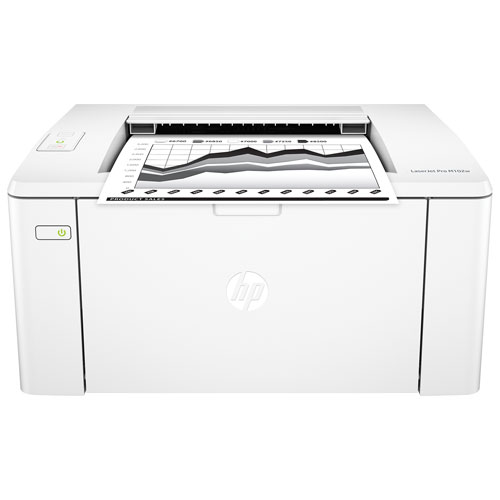 HP LaserJet Pro M102w Monochrome Wireless Laser Printer